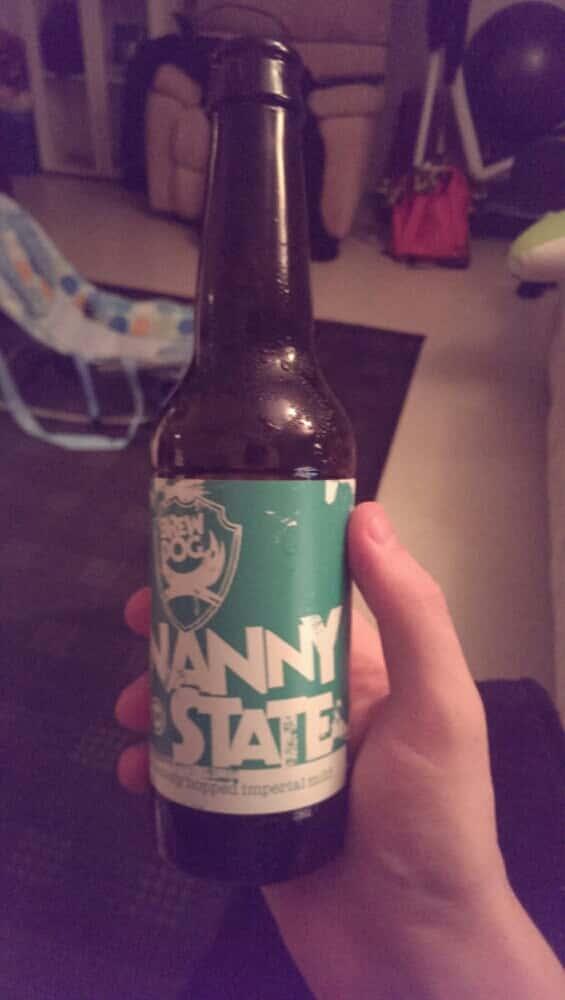 BrewDogin Nanny Statea saisi vielä ruokakaupasta. Hyvä 0,5 % olut. Mutta ei paljon lohduta, kun juuri muuta ei enää saisi...